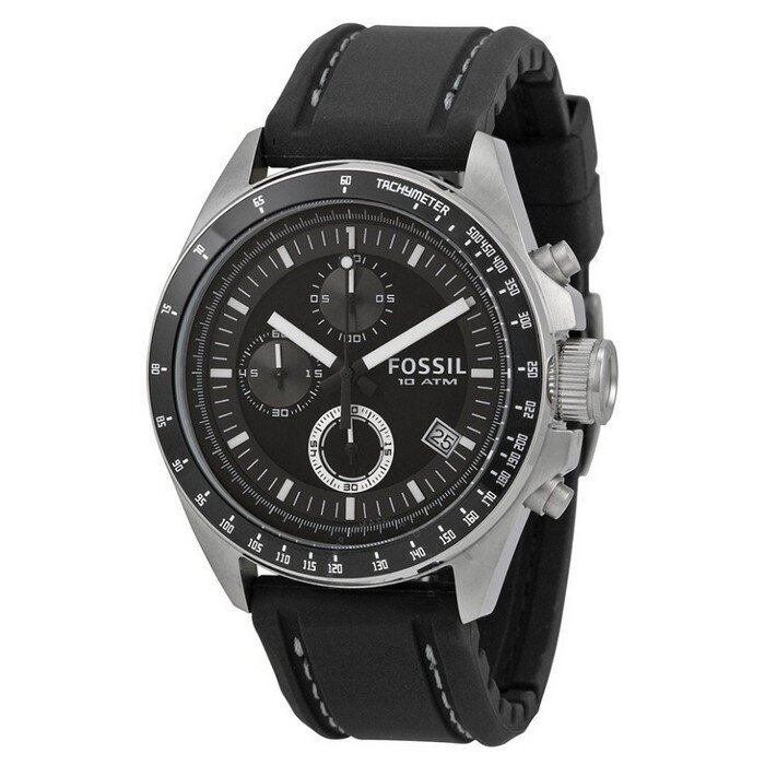 Fossil - Hodinky - Dexter Black Dial Chronograph
