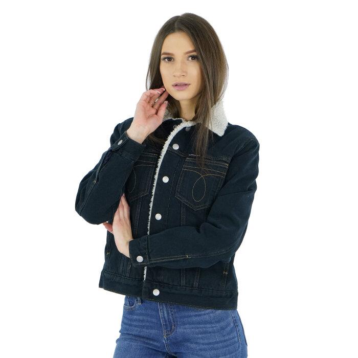 Calvin Klein - Kurtka jeansowa ocieplana